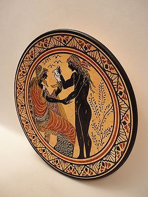 Greek God Zeus Rare Ancient Greek Art Pottery Plate