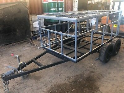 Unfinished project 9ft x 5ft heavy duty trailer tandem farm hunting camping bike