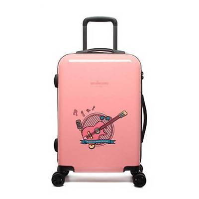 D914 Pink Lock Universal Wheel ABS Travel Suitcase Luggage 24 Inches W