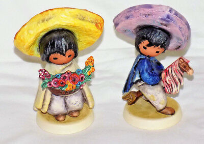 DeGrazia GOEBEL Germany FLOWER BOY & MY FIRST HORSE Children Figurines Lot 1985