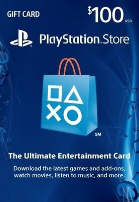 $100 US PlayStation Network Store PSN Gift Card