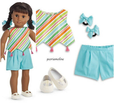 American Girl MELODY PLAY OUTFIT NEW ~Shorts~Canvas Shoes~Julie~Maryellen