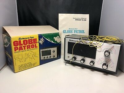 Radio Shack Science Fair Globe Patrol 4 Band Receiver # 28-205, Untested, As-Is