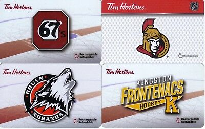 4 New, Never Used Tim Horton's Tim Card Gift Card