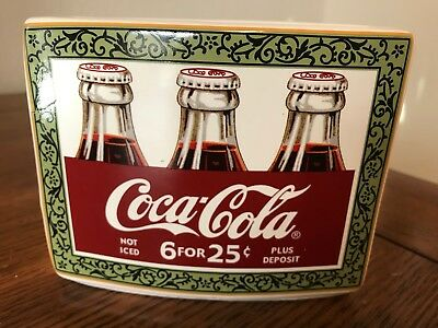 COCA COLA COKE Vintage Style Display ToothBrush / Pen Holder Advertising Ceramic