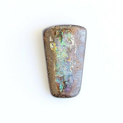 26x15MM 28.24CT AUSTRALIAN SOLID BOULDER OPAL LOOSE WITH HOLE FOR PENDANT