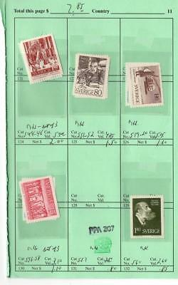 1¢ Wonder's ~ Sweden On Aps Retired Sales Page All Shown ~ H339