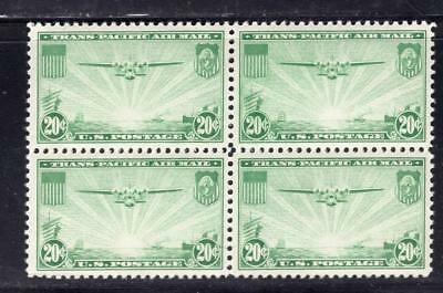 1¢ Wonder's ~ Us Airmail #c-21 Vf Mnh/mh Block Of 4 Top 2 Mh ~ E47