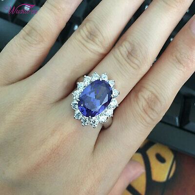 Tanzanite Heart /& Baguette Cz .925 Sterling Silver Ring SIZES 5-10