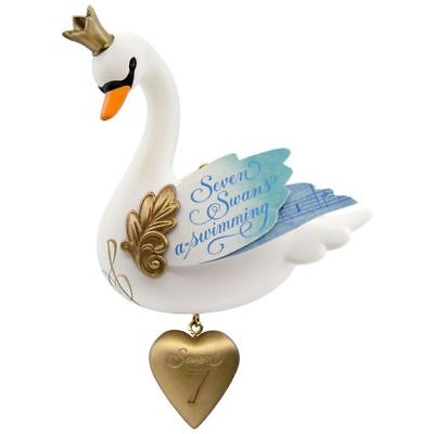 2017 Hallmark Seven Swans-A-Swimming #7 12 Days Of Christmas New In Box Ornament
