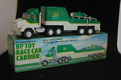 1993 collectable BP Toy Race Car Carrier with box