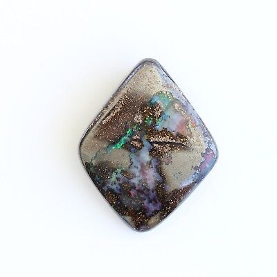 30x24MM 46.34CT AUSTRALIAN NATURAL SOLID BOULDER OPAL WITH HOLE FOR PENDANT