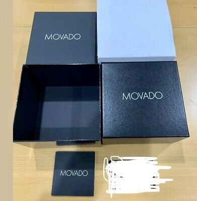 Brand New 100% Authentic Movado Watch Gift Box With Warranty Booklet!!!