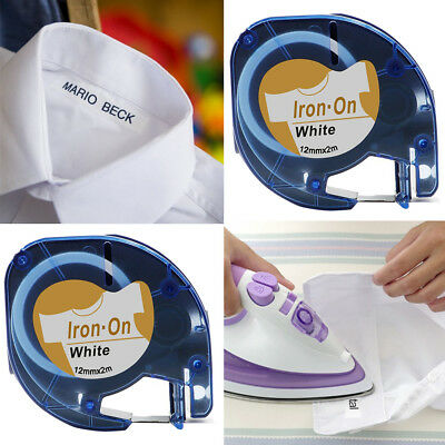 Compatible DYMO Tape Clothes Iron on S0718850 18769 Fabric Label 12MM