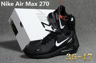 NIKE AIR MAX 270 Men's Running Trainers Shoes Black and white