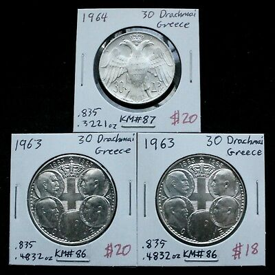 Greek Silver Coin Lot: Collection of Silver Coins from Greece