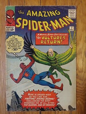Amazing Spiderman #7 1963 2nd appearance of the Vulture. Marvel Silver Age