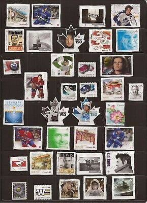 S19 Collection of 36 recent Canada used stamps