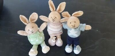 baby toy bunny soft toy, hand knitted