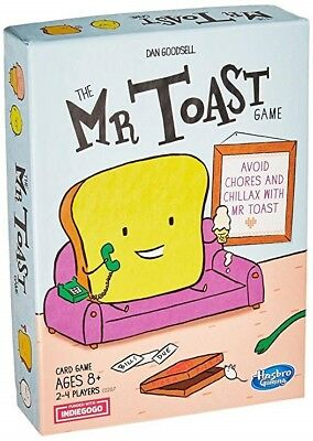 The Mr. Toast Game ~Card Game / Ages 8+ / 2-4 Players ~Hasbro Gaming ~New/Sealed