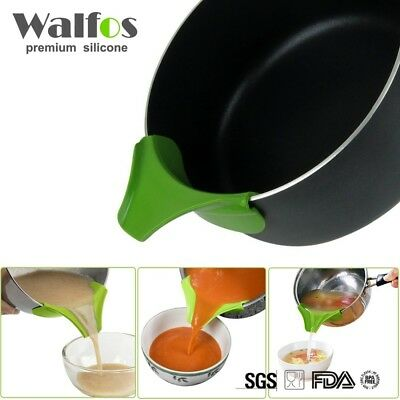 Silicone Soup Funnel Kitchen Gadget Anti-spill Edge Water Deflector