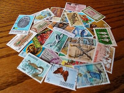 Collection lot 25 different stamps of the Bahamas