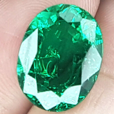 9.13 Cts 15Mm Si Oval Rich Green Natural Emerald Loose Gemstone