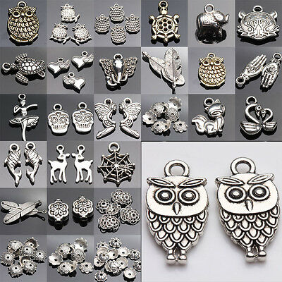 Lot Tibetan Silver Mix Spacer Bead DIY Crafts Charms Pendant Jewelry Accessory