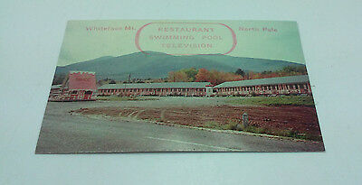 Vintage White Brook Motel Business Card Wilmington Ny Whiteface Mt North Pole
