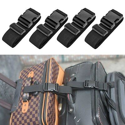 4X Luggage Suitcase Bags Hang Buckle Portable Travel Hanging Belt Anti-lost Clip