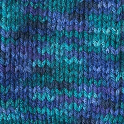 Handmade Women's knitted scarf Caron Simply Soft Paints Oceana Purple Teal Green