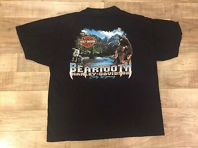 HARLEY-DAVIDSON Motorcycles BEARTOOTH Cody Wyoming T Shirt XLarge