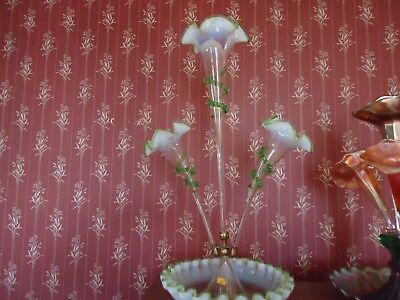 Victorian Opalescent Glass Epergne