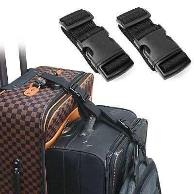2 Packs - Add Bag Luggage Strap Straps Baggage Suitcase Nylon Belts For Travel