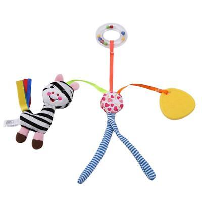Baby Infant Rattles Plush Animal Stroller Music Hanging Bell Toy Doll DD