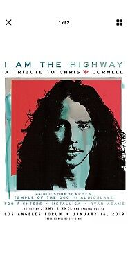 I Am The Highway Tribute Chris Cornell Sec 225 (2) E Tickets The Forum