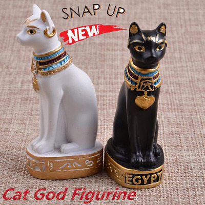 Egyptian Bastet Cat Statue Ancient Egypt Goddess Bast Collectible Figurine TY5