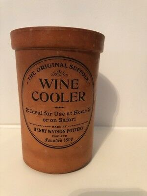 Henry Watsons Wine Cooler Vintage Retro Terracotta Made In England needs TLC