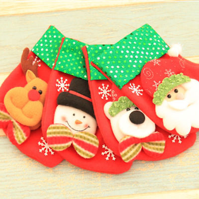 Santa Claus Stocking Hanging Socks Gift Bag Christmas Decoration Party Ornaments