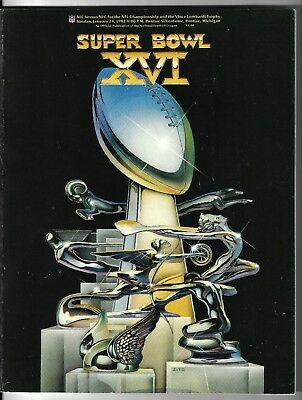 Super Bowl 16 Game Program 49Ers V Bengals 1982.