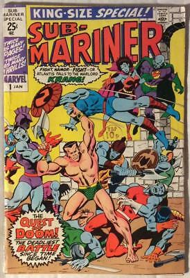Sub Mariner #1 King size Special (Marvel 1971) Bronze Age Classic