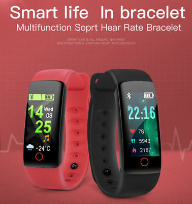Smartwatch MISURATORE PRESSIONE OROLOGIO Cardiofrequenzimetro BLUETOOTH Band IT