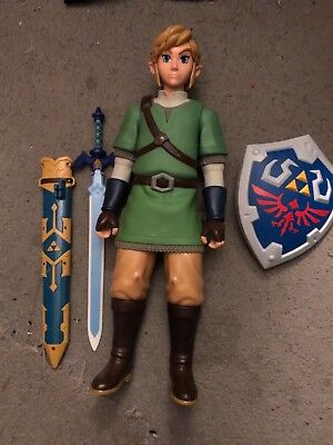 Pre Owned The Legend of Zelda Skyward Sword 20 Inch Link Action Figure