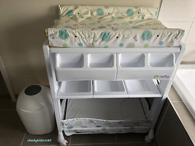 4Baby Bath & Changing Centre & Tommee Tippee Closer to Nature Sangenic Nappy Bin