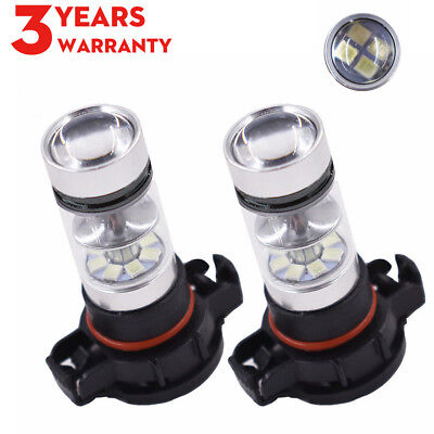 2X H16 5202 LED Fog Light Bulbs  High Powe Driving Light Bulb DRL 6000K White