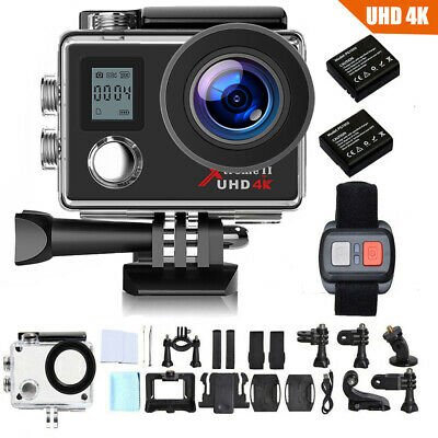 Campark ACT76 Ultra FHD 4k/30fps WiFi Sports Kamera ActionCAM DVR+Helmkamera DE
