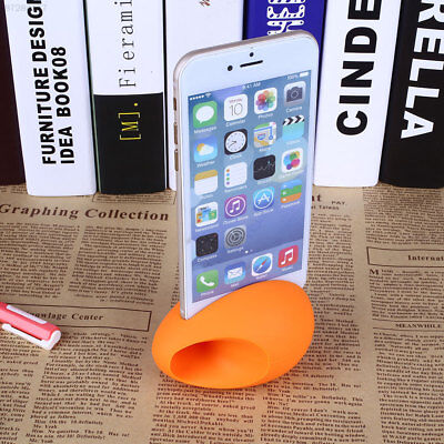 557B Egg Silicone Horn Audio Amplifier Speaker Holder Stand For iPhone 6/6 Plus