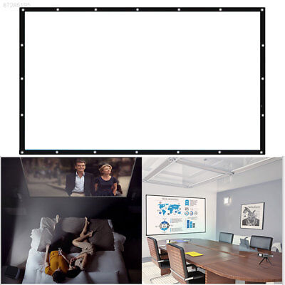 69A1 Projector Screen Party Outdoor Movies Home Theater Cinema Portable White