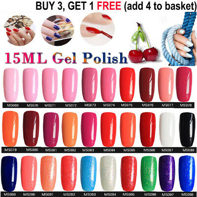 15ML GEL LAB Soak Off  UV LED Gel Polish Base Top Coat Manicure Varnish Lacquer#