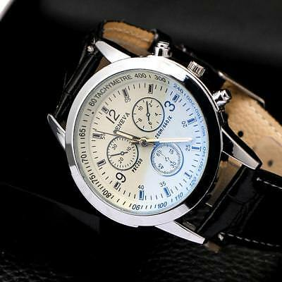 Hot Men's Leather Military Casual Analog Quartz Wrist Watch Business Watches MZ